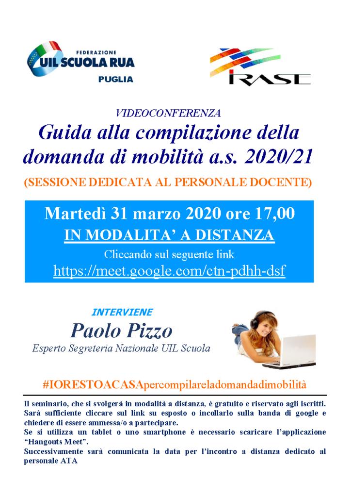 COMUNICAZIONE VIDEO CONFERENZA X MOBILITÀ A.S. 2020/21